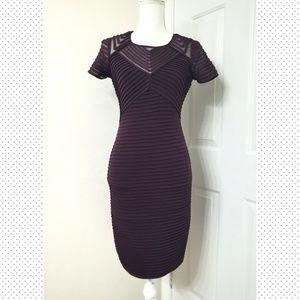 CALVIN KLEIN Cap-sleeve sheath burgundy dress